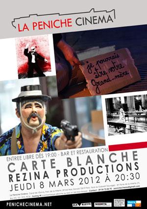 Programme Mars 2012 Péniche Cinéma - Rezina Productions